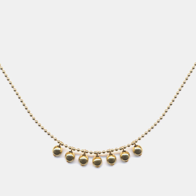 Vintage Brass Balls Necklace