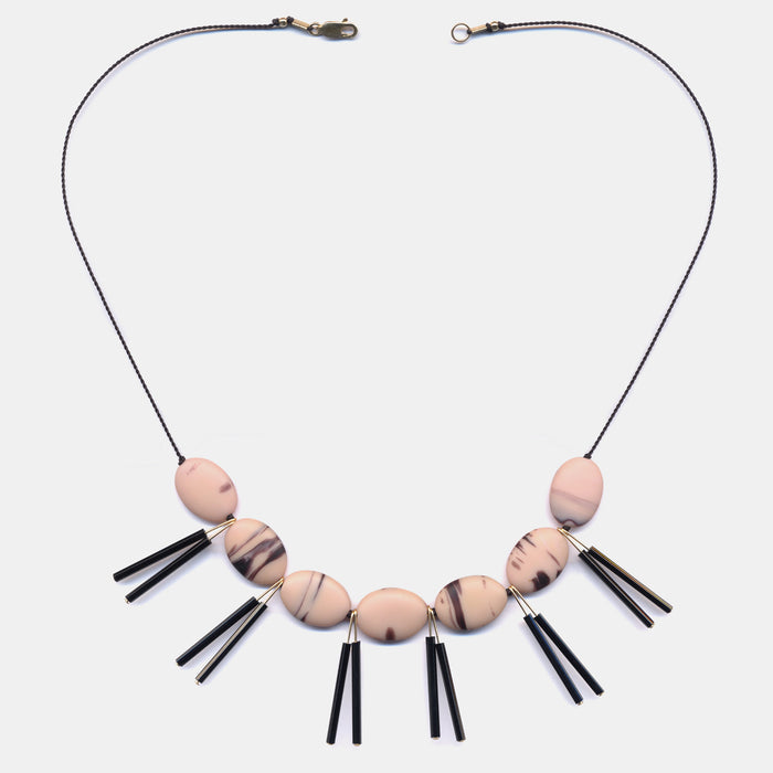 Pink Ovals Necklace