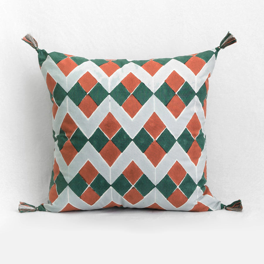 Lydia Green Pillow, square