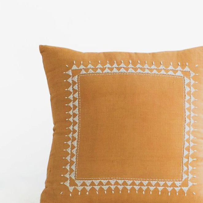 Clea Mustard Pillow, square