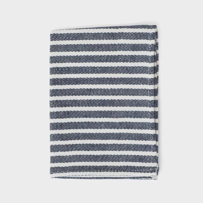 Navy and White Stripe Thick Kitchen Cloth