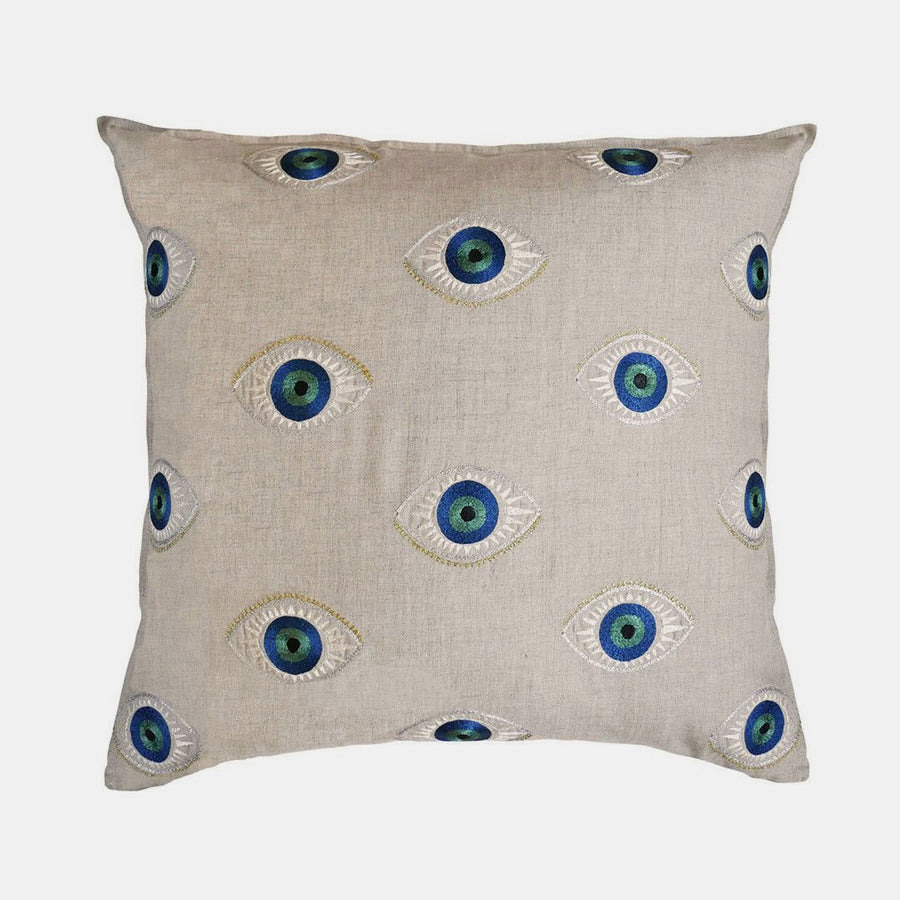 Evil Eye Pillow, square, Pillow, Coral & Tusk, Collyer's Mansion - Collyer's Mansion