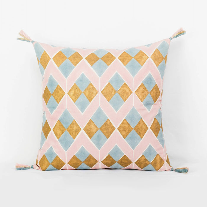 Lydia Pink Pillow, square