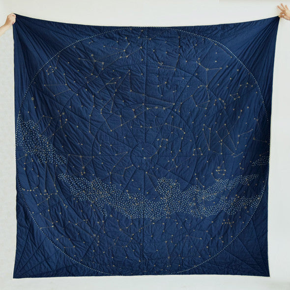 Constellation Quilt, navy, Quilt, Haptic Lab, Collyer's Mansion - Collyer's Mansion