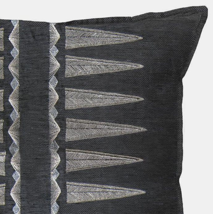 Quill Slate Pillow, square