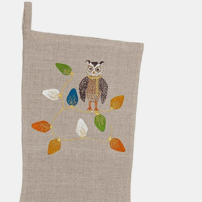 Large Owl Tree Trimmer Stocking