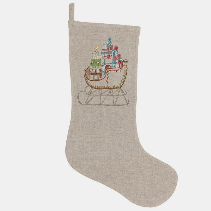 Large Santa's Sleigh Stocking