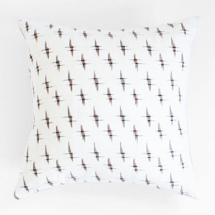 Crosshatch Ikat Pillow, square