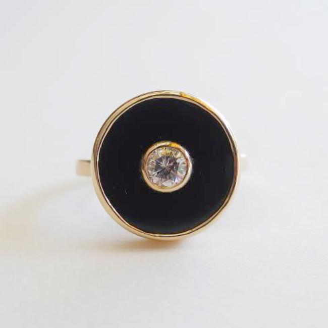 Diamond and Onyx Europa Ring, Ring, Liz Phillips, Collyer's Mansion - Collyer's Mansion