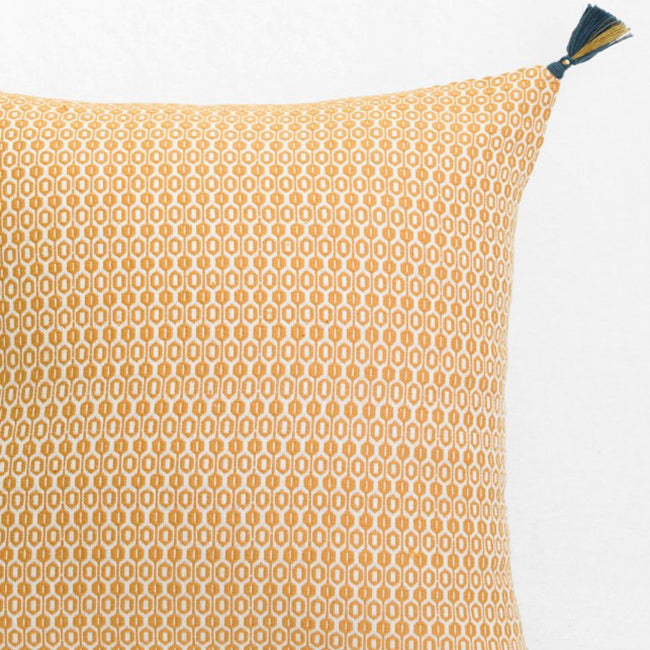 Krisha Mustard Pillow, square