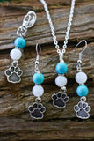 Dog Mom & Furbaby Matching Necklace and Collar Charm Set