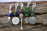 Dog Collar Clip On Healing Stone Charms