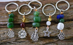 Dog Collar Key Ring Healing Stone Charms
