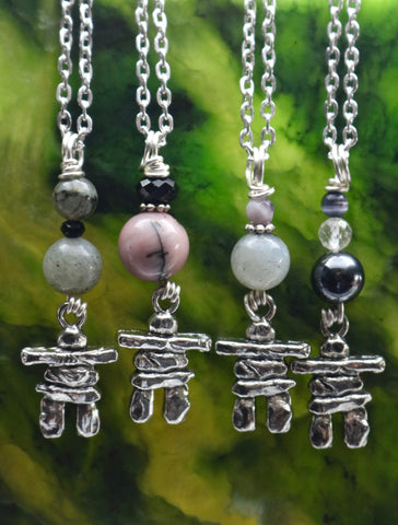Inukshuk Stone Bead Necklaces