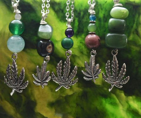 Cannabis Leaf Necklaces