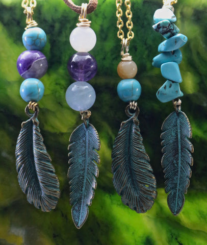Boho Feather Necklaces