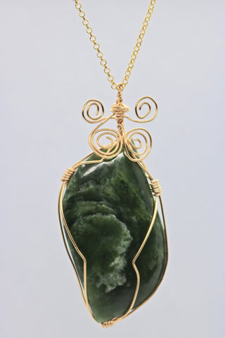 Unique Cat's Eye Jade Pendant