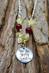 """You are my sunshine"" Beaded Pendant"