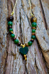 """Mother Gaia's Heart"" Jade Beaded Necklace"