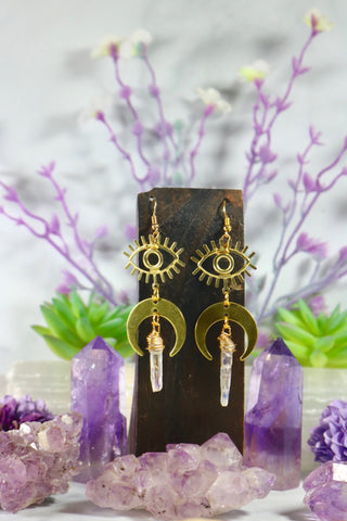 """The Awakening"" Quartz Point Earrings"