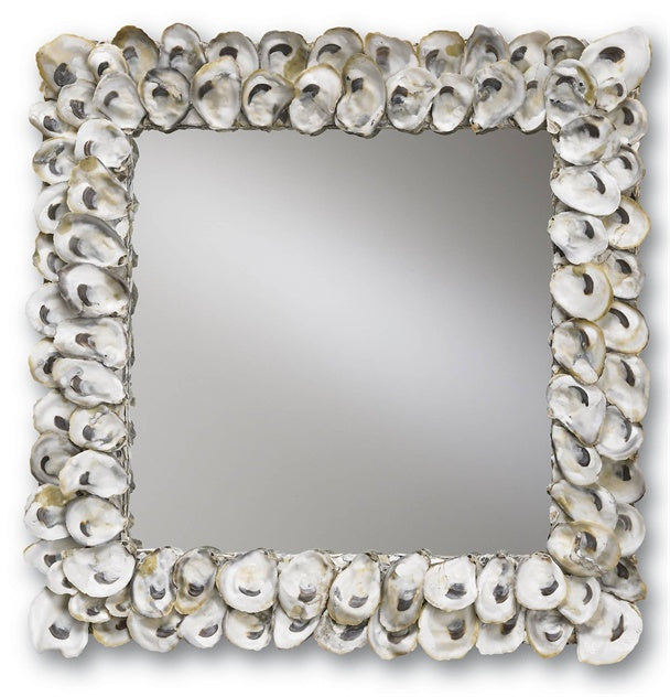 Oyster Shell Square Mirror