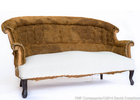 Deconstructed 19th C. French Settee