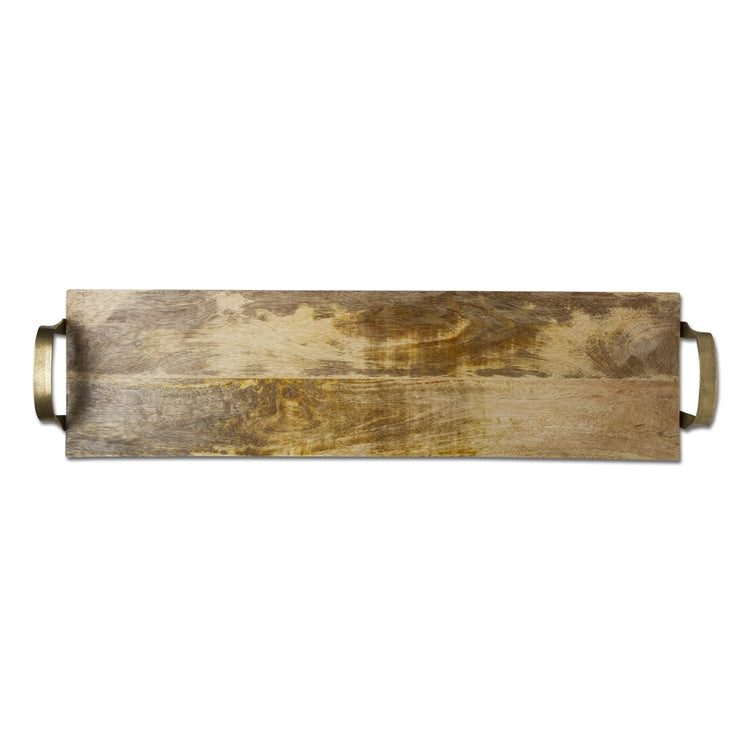 Wooden Brunch Board with Iron Handles
