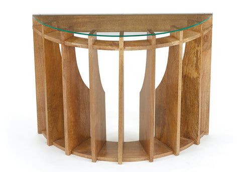 Architectural Wood Coffee Console Table
