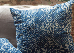 Blue and White Hand-Dyed Pillows