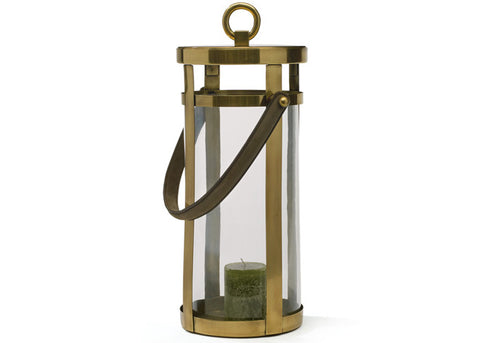 Large Brass English Candle Lantern, Two Sizes Available