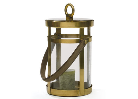 Small Brass English Candle Lantern, Two Sizes Available