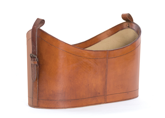 The Chadwick Leather Magazine Basket