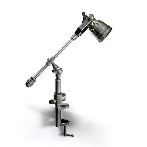 Drafting Table Extendable Lamp, Industrial Steel Finish