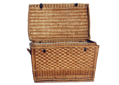 Hungarian Wicker Hinged Hamper