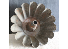 Old Metal Fluted Cake Pan from France