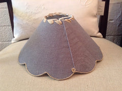 French Gray Blue Monogrammed Lamp Shades