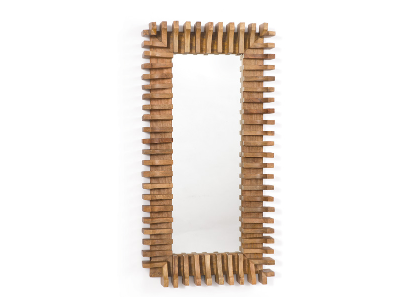 Irish Wooden Architectural Mirror