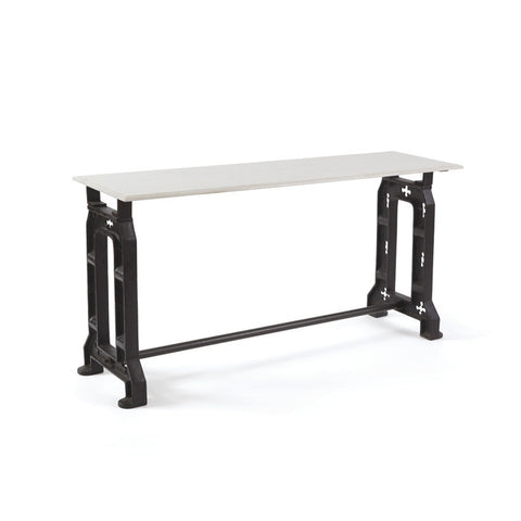 Iron Base, Marble Top Console Table
