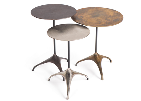 Italian Style Industrial Iron Tables, Set of 3