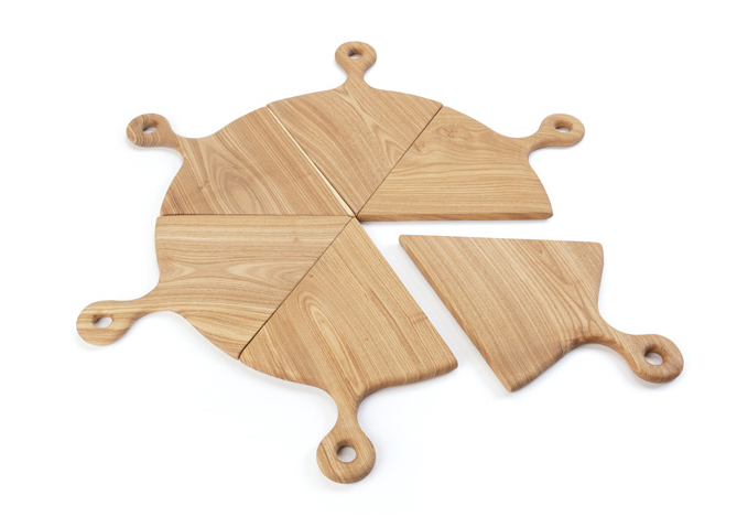 Wooden Handled Pizza Boards, Set of 6
