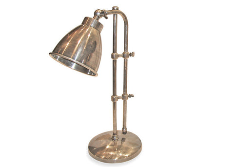 Adjustable Height Nickel Desk or Table Lamp