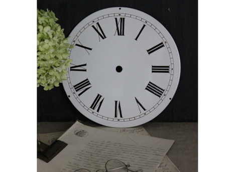 Old French Enamel Clock Face