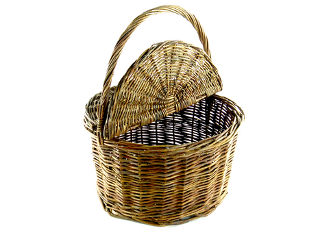 Round Willow Picnic Basket