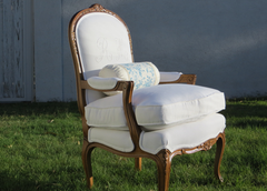 "The ""Reyella Monet"" Vintage French Bergere Arm Chair"