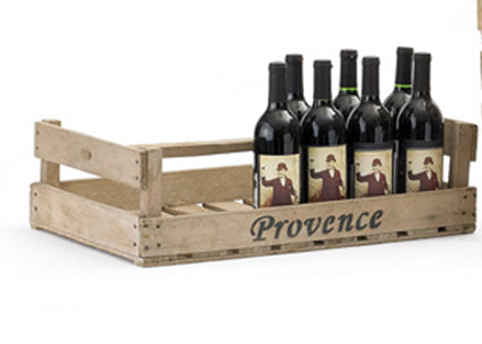 "Wooden Bulb Crates, Labeled ""Provence"""