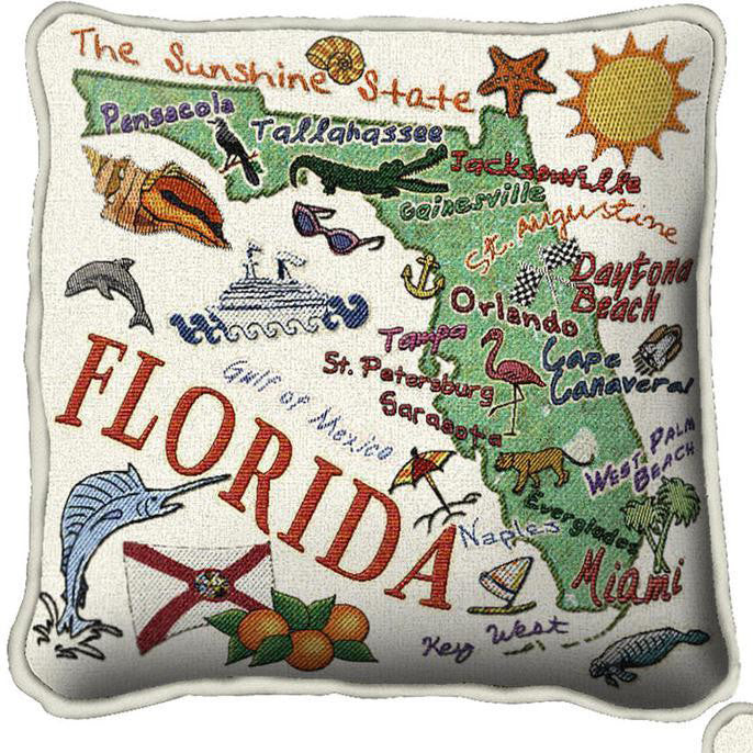 Woven State Pillow - Florida