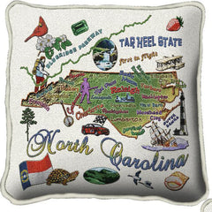 Woven State Pillow - North Carolina