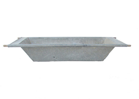 Antique Hungarian Galvanized Metal Zinc Sink
