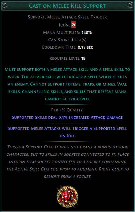 Buy POE | Cast on Melee Kill Support at We Grind Games