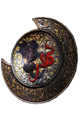 Buy POE | Daresso's Courage Baroque Round Shield at We Grind Games